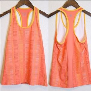 CHAMPION Orange And Yellow Racerback Tank Top